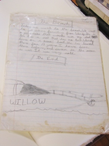 Christine's essay and drawing of Willow.  Priceless...
